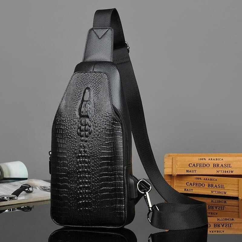 2ddaaba09a90 ... Мужская сумка Alligator в Углегорске. Высокое качество крокодил  дизайнер Аллигатор сумки на плечо Купить со