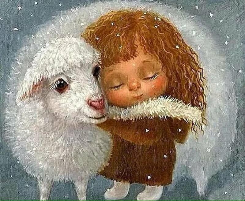 Открытки с овечкой