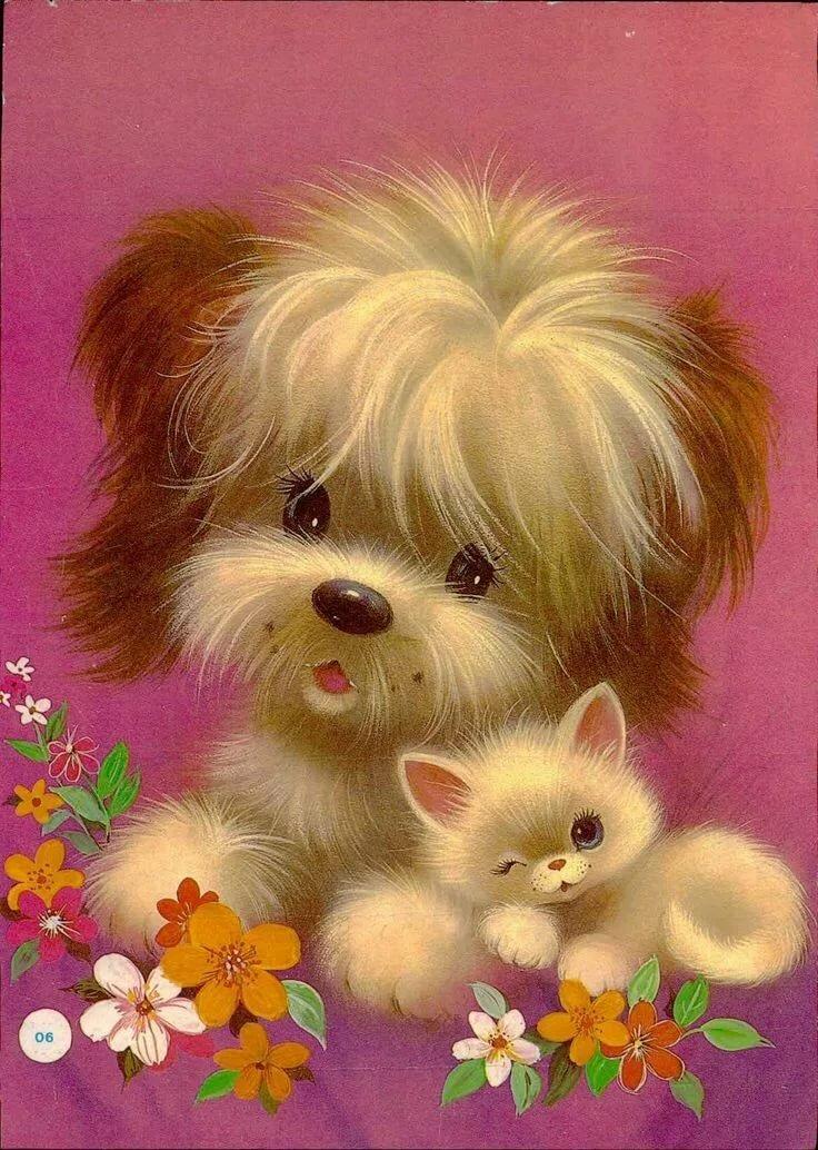 Добрый открытки, показать открытки животных