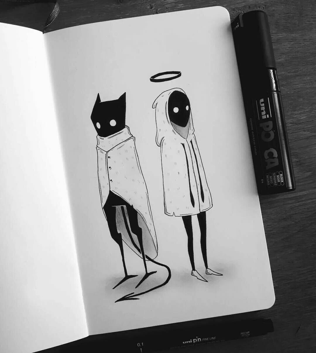 Прикольные картинки в черном стиле, анимационные наступающей троицей