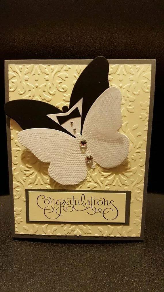 Простая открытка на свадьбу своими руками, хохлома открытки для
