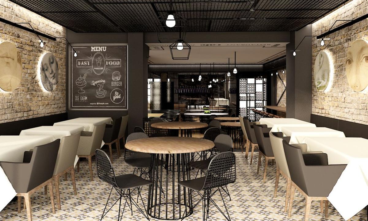 бирюзовом цвете картинки интерьер-дизайна кафе там