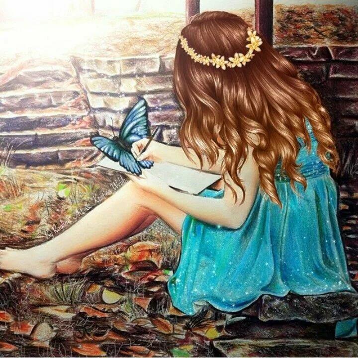 Картинка с нарисованной девочкой на аву