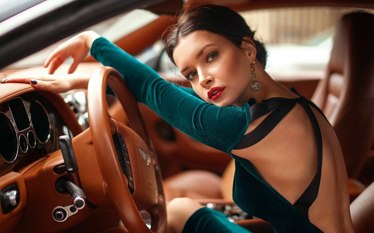 Красивые картинки девушки за рулем