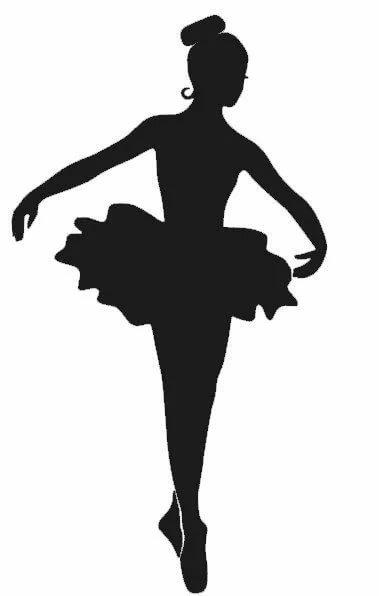 Шаблон для открытки балерина