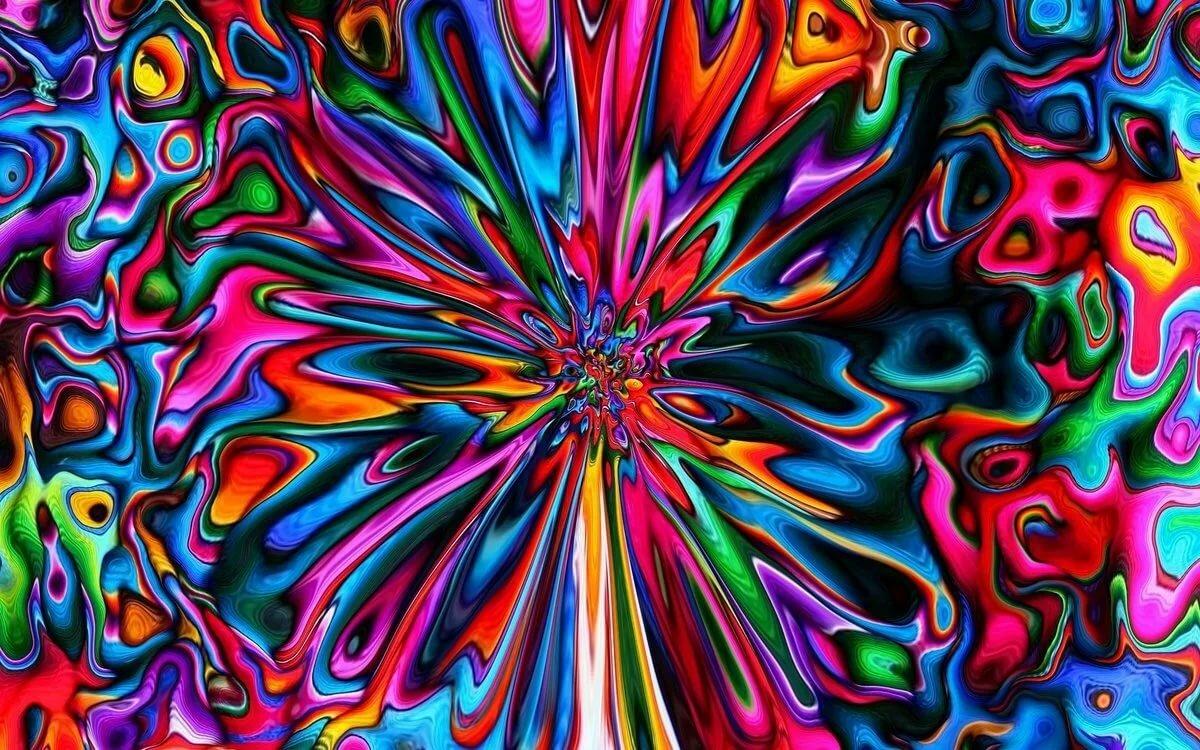яркие картинки абстракция своих впечатлениях