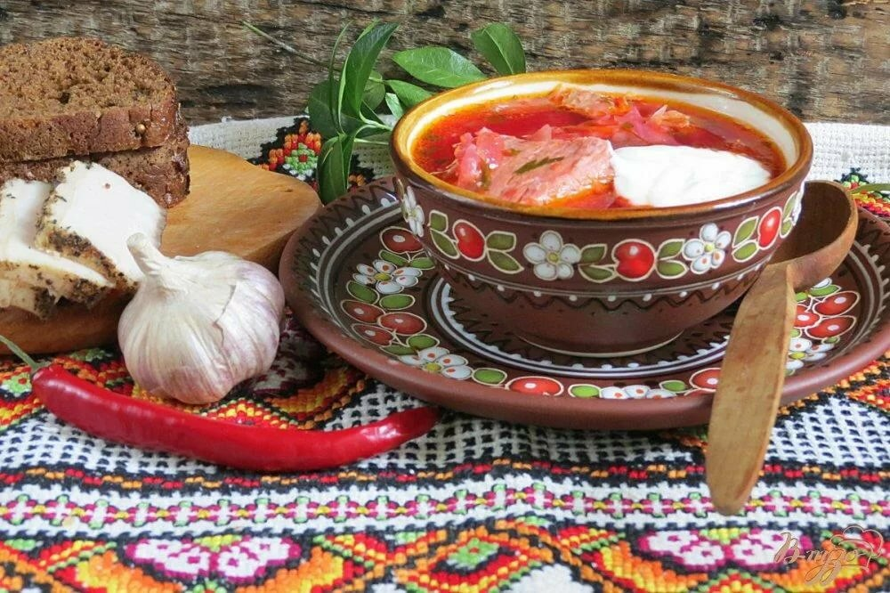 Блюда русской кухни открытки