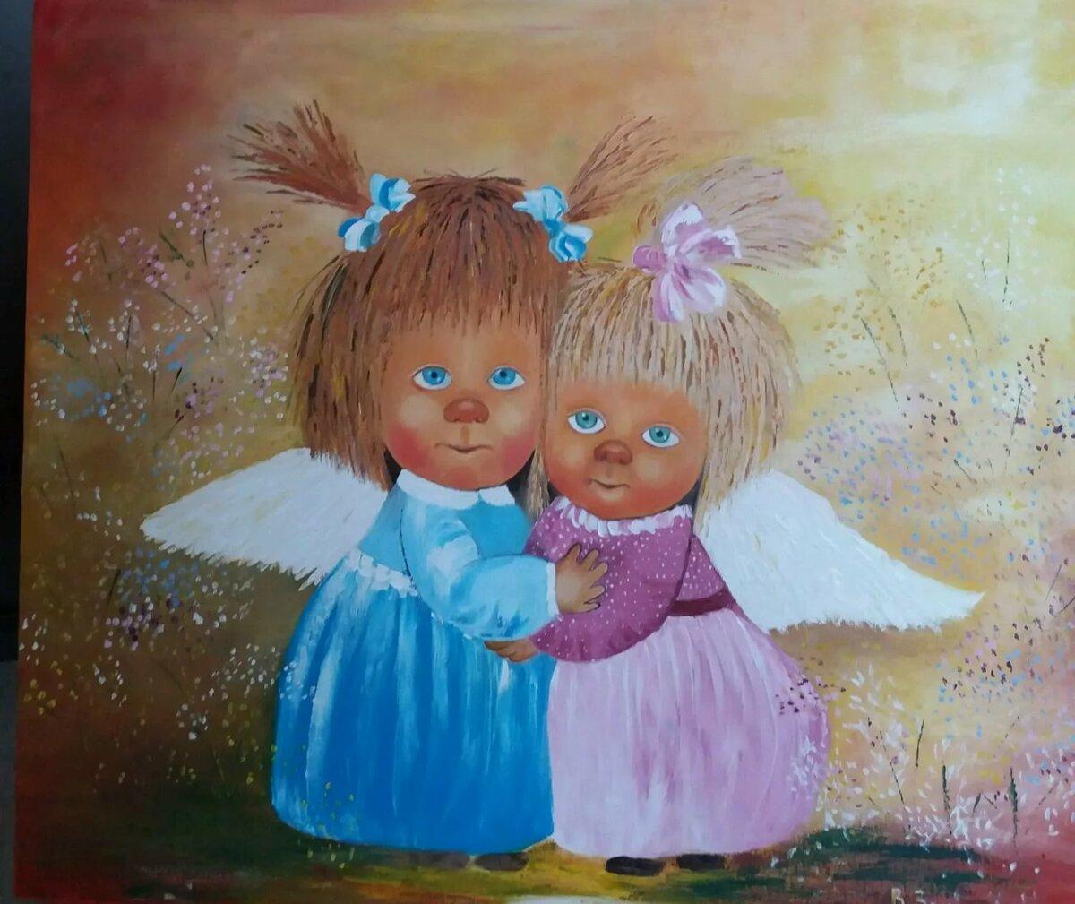 Картинки с ангелами смешные, женский