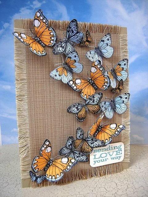 Сделать открытку бабочку своими руками