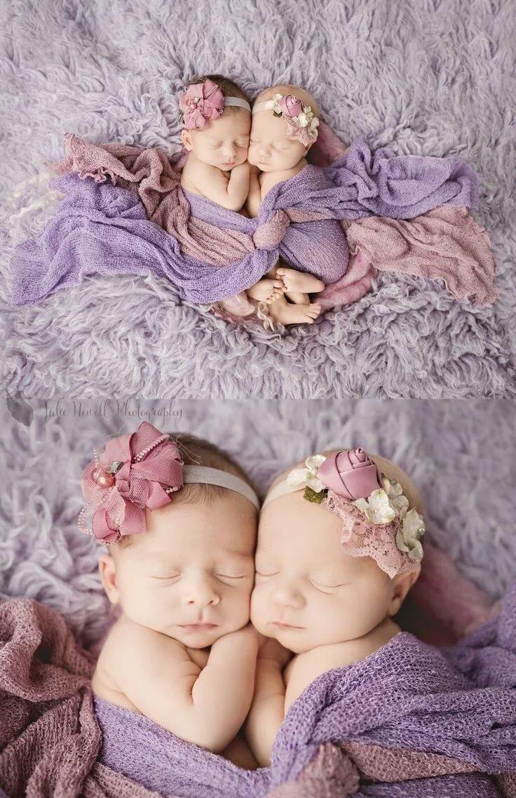 Юбилей, картинки двойняшек девочек новорожденных