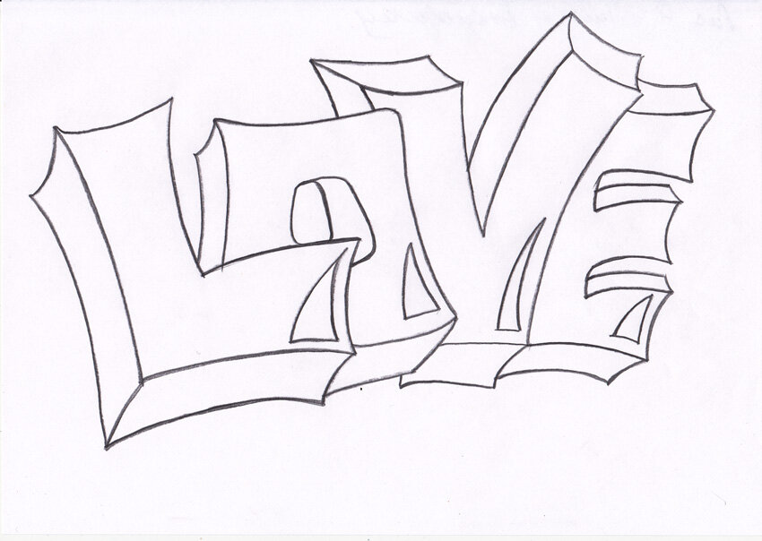 Картинки карандашом граффити легкие
