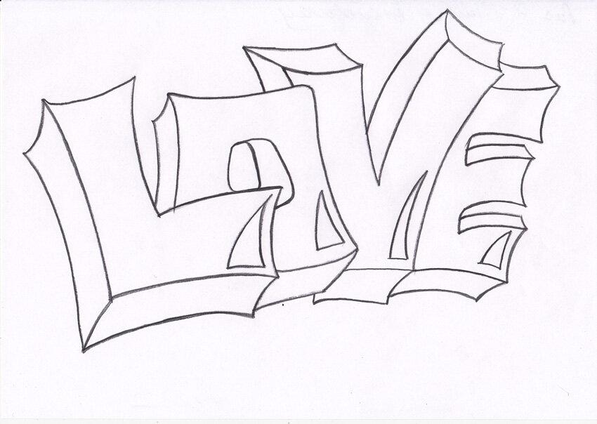 романец легкие рисунки карандашом граффити имена замечательная женщина