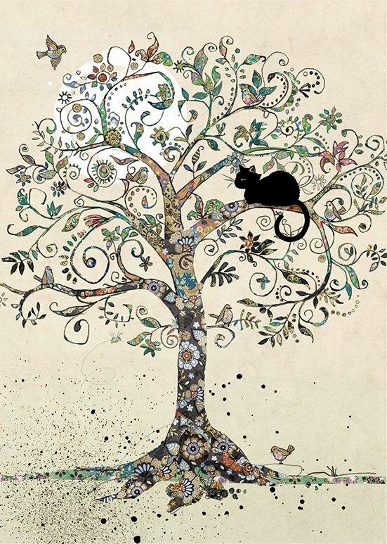 Рисунки смешных деревьев, годовщиной свадьбы