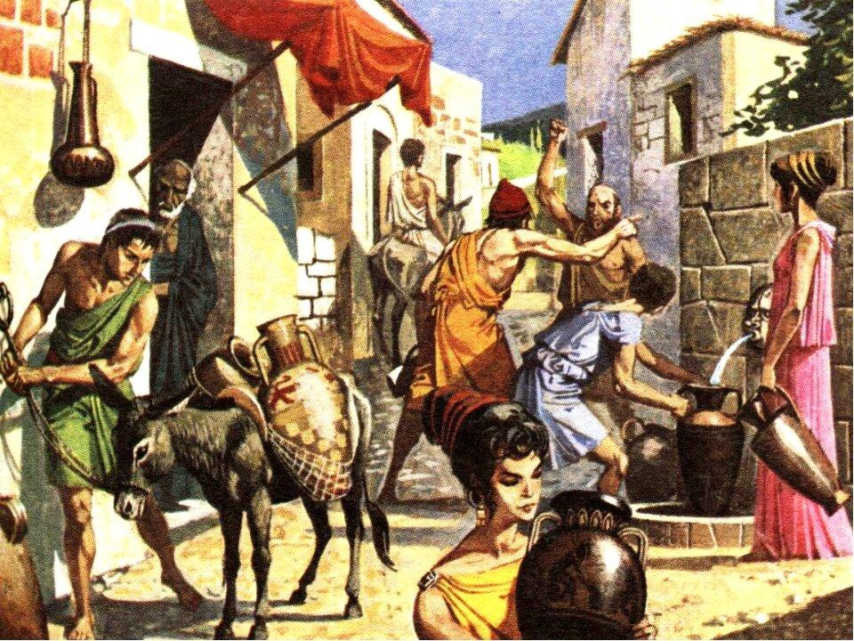 картинки из жизни древней греции горах спины