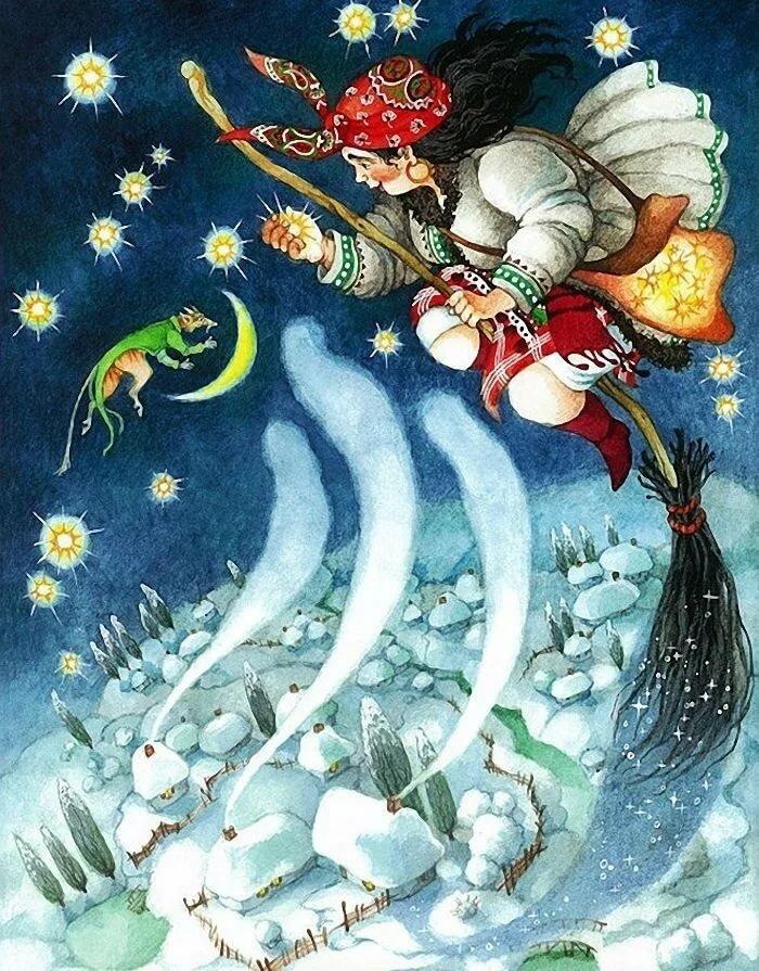Картинки ночь перед рождеством прикольные