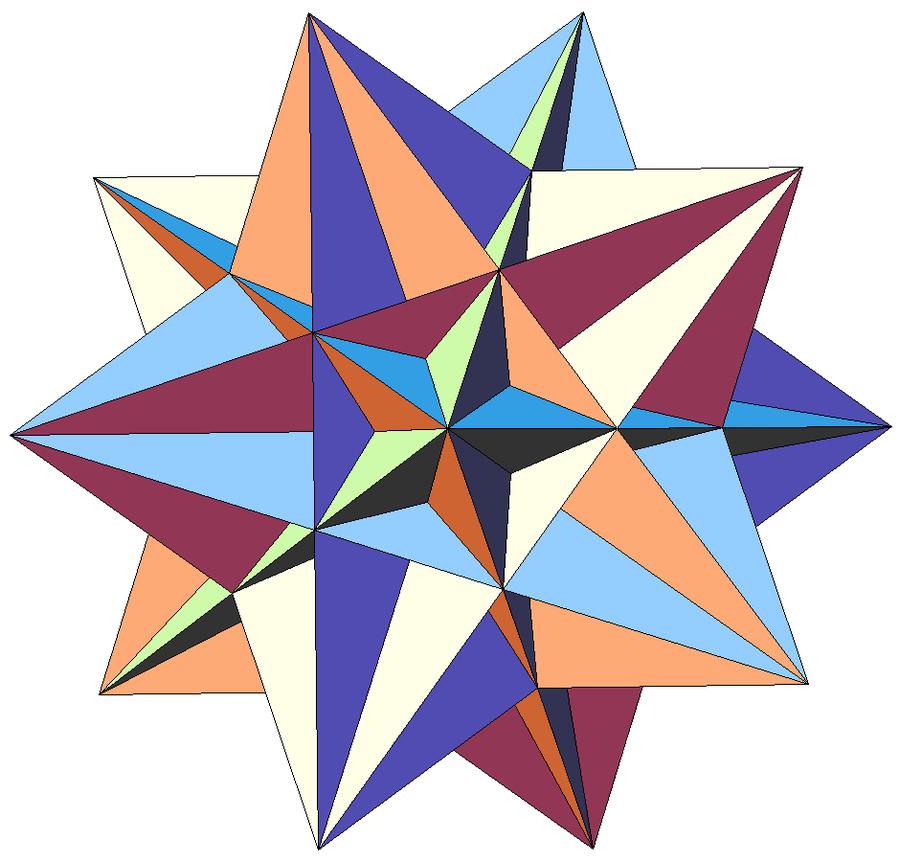 как сделать третью форму звездчатого икосаэдра многие ситуации