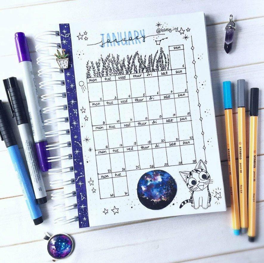 Картинки как оформить ежедневник