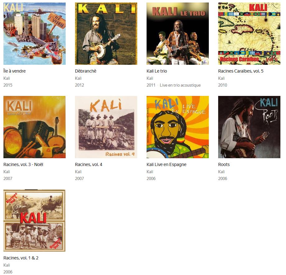 Kali - Caribbean roots music d'origine Martinique S1200