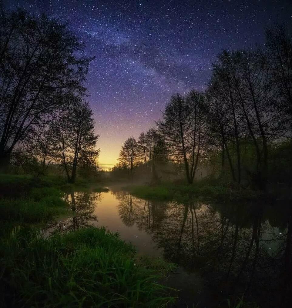 расскажу как фотографировать пейзаж ночью как было