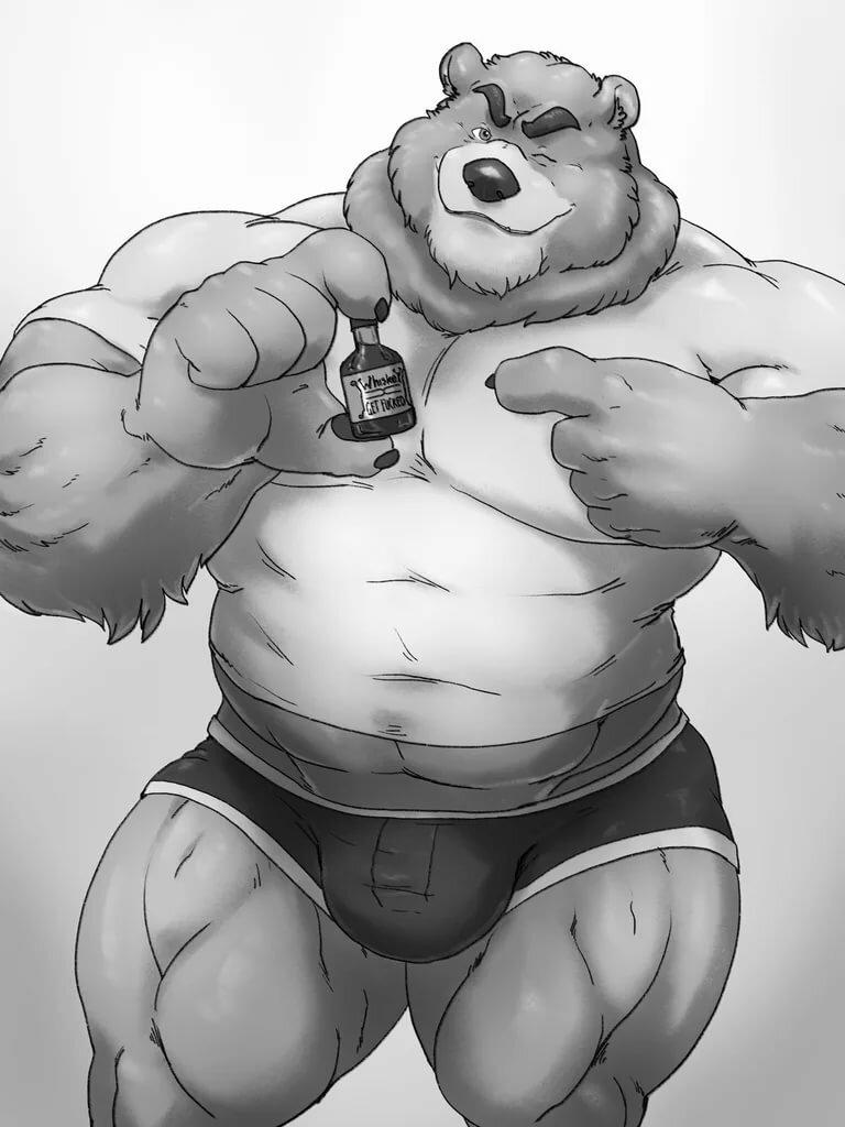медведь с мускулами картинка композиции используются