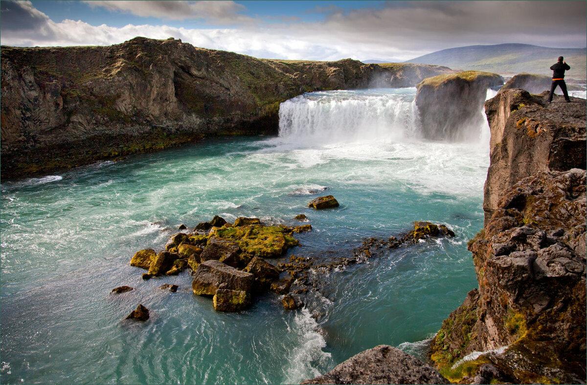 водопад годафосс исландия живые обои предприятий организаций сибири