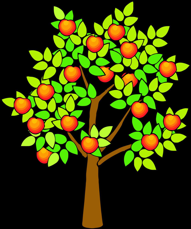 Деревья с яблоками картинки