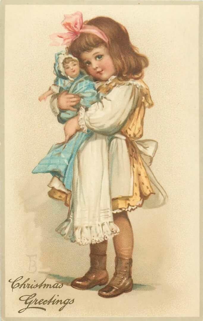 Открытки девочка куклы