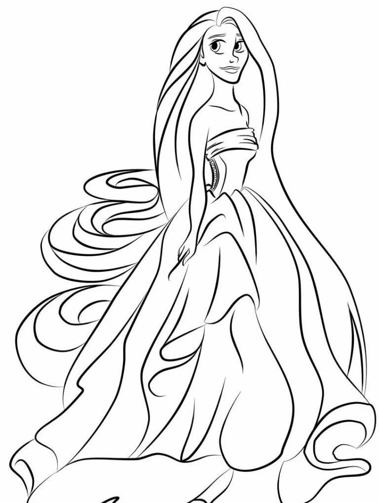 Раскраска волосы длинные читал