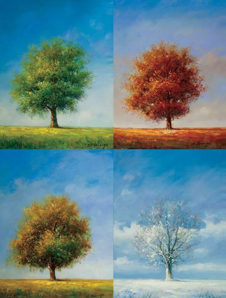 картинки различных времен года для программиста