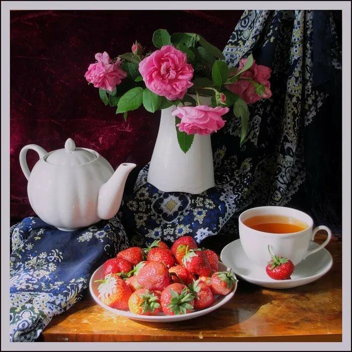 Доброго летнего вечера красивые картинки с чаем