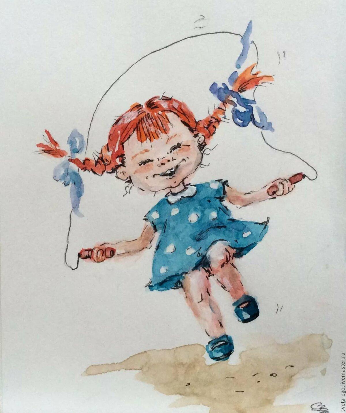 Рисунки девочка прикольная