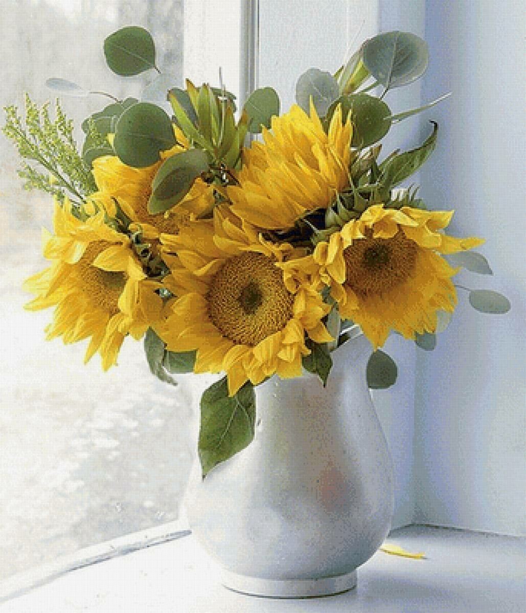 фото картинки цветы подсолнухи в вазах вам