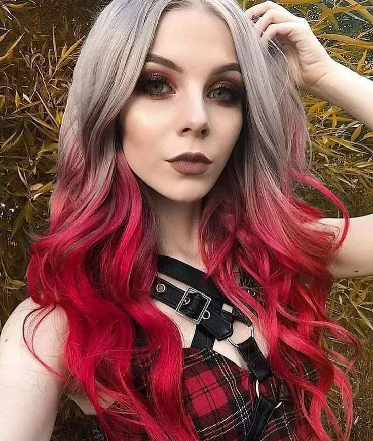 модные цветные волосы фото