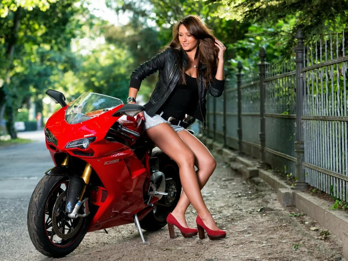 Motorcycle girl pictures, watch young wife fuck