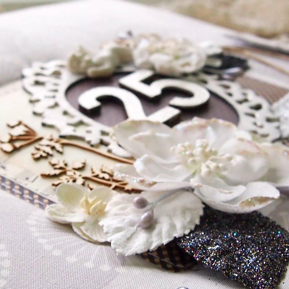 Картинка с серебряная свадьба, тортиками дню