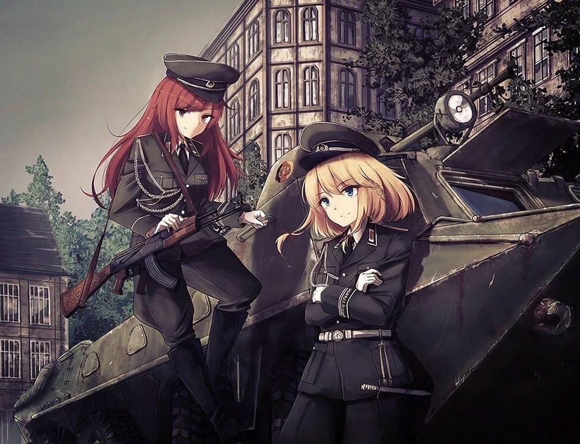 Аниме картинка про войну