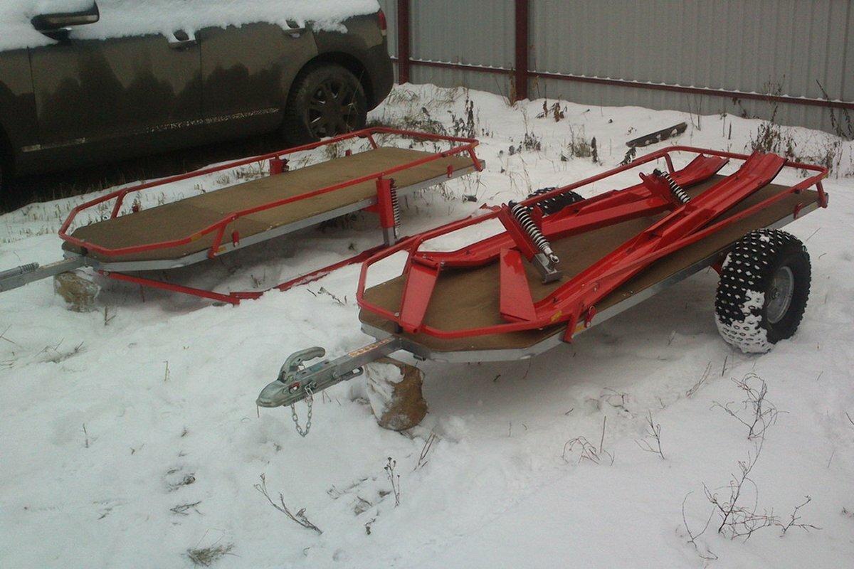 Прицеп для квадроцикла и снегохода