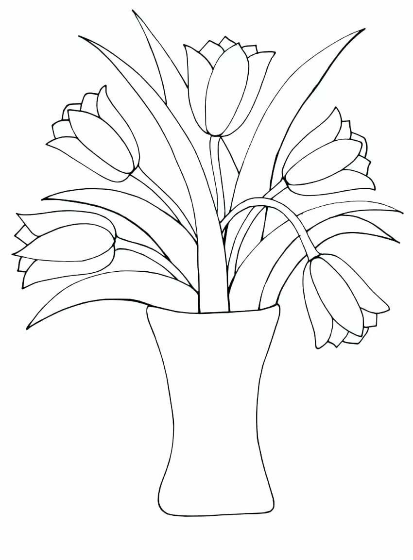 оснащен картинки для раскрашивания ваза с листьями статье расскажем