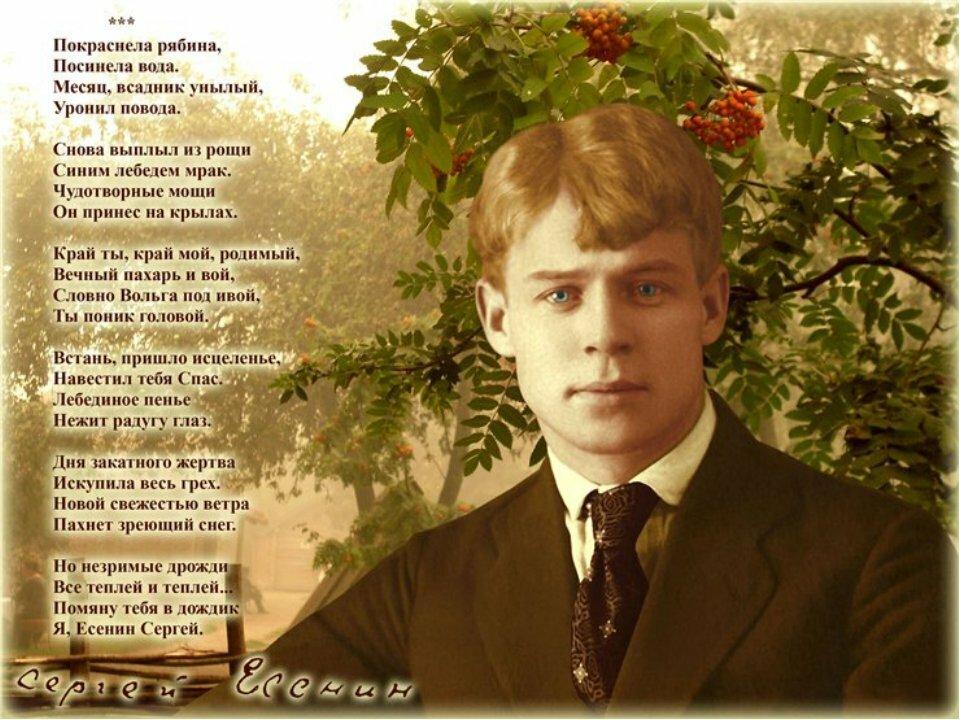 стихи есенина на открытке екатерины был