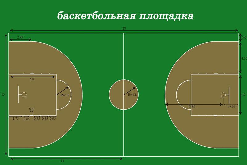 Баскетбольная площадка разметка картинки