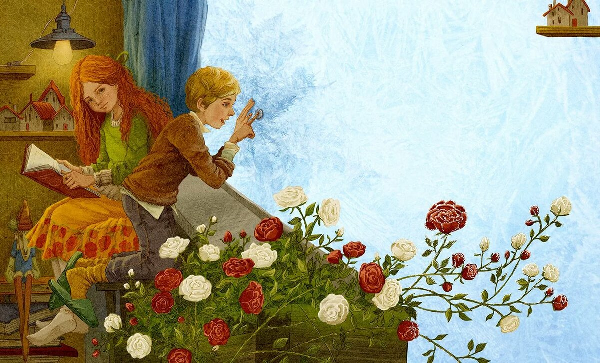 Картинки из сказки кай и герда