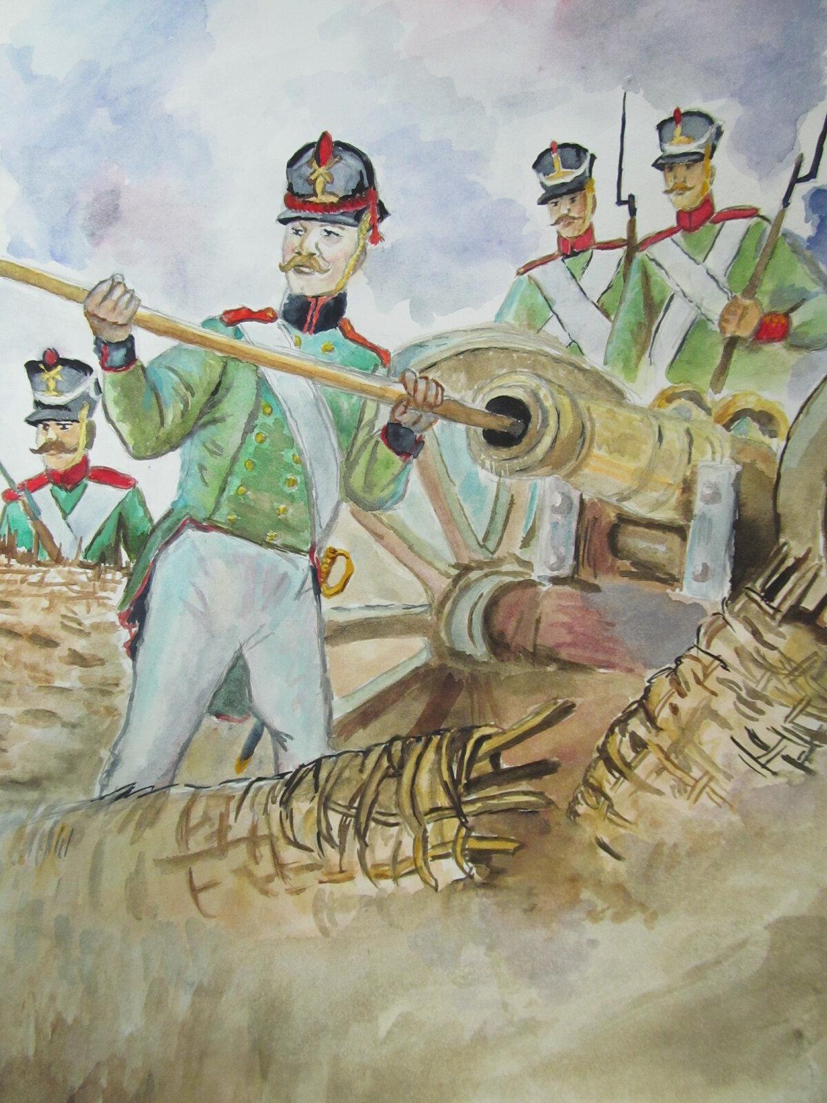 Картинки бородинское сражение в карандаше