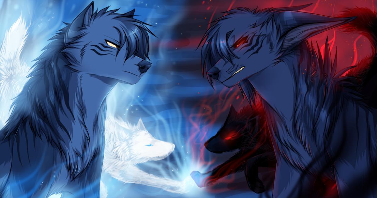 Картинки крутого волка аниме
