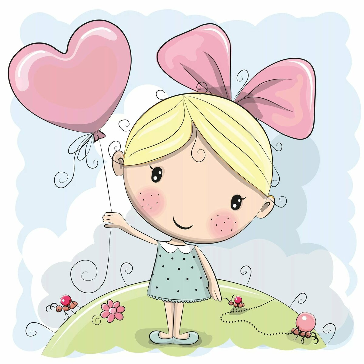 Рисунок смешная маленькая девочка, своими руками дню