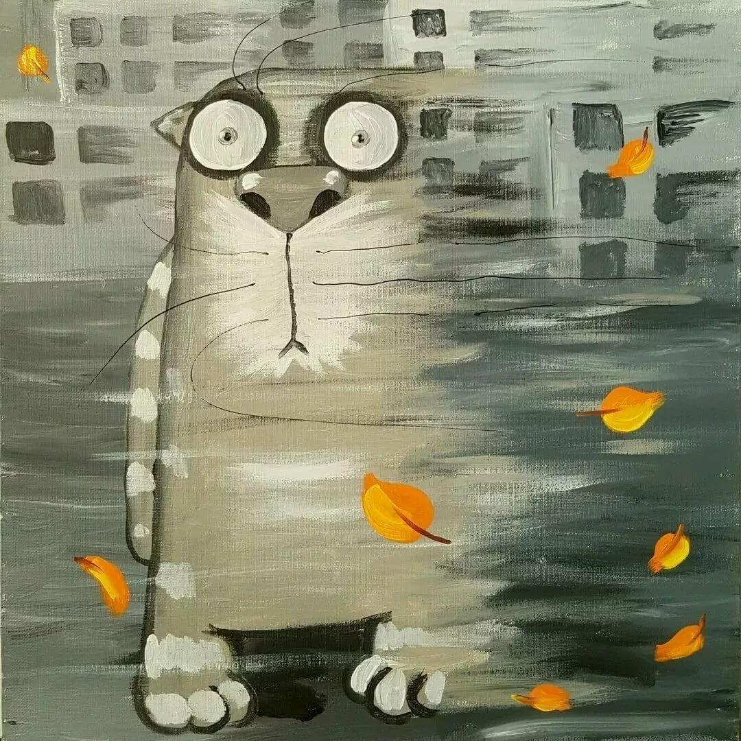 Смешные картинки настроение осень, открытки