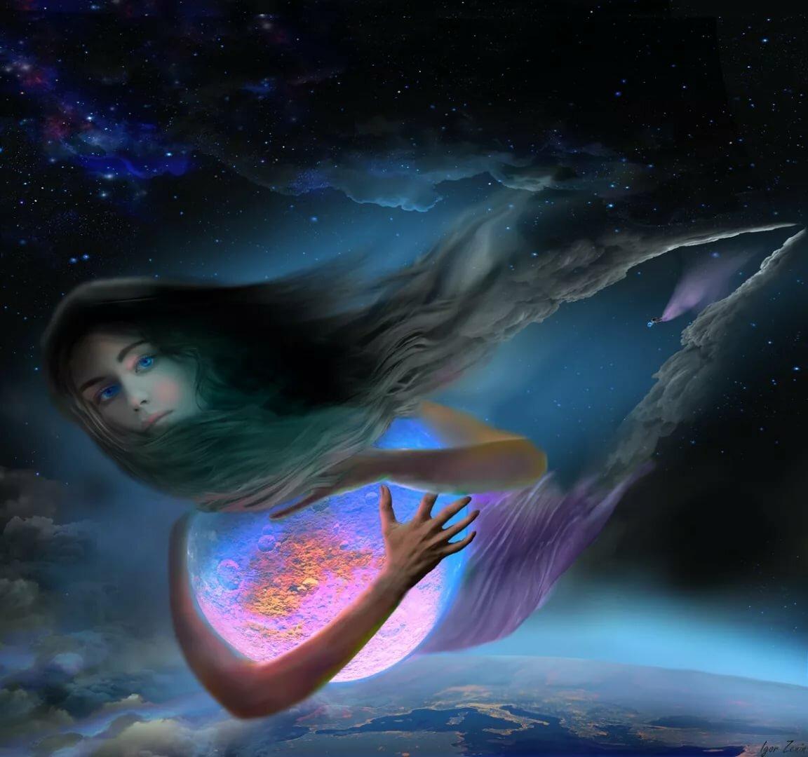 форма более русалка в небе видны планеты картинки есть несколько идей