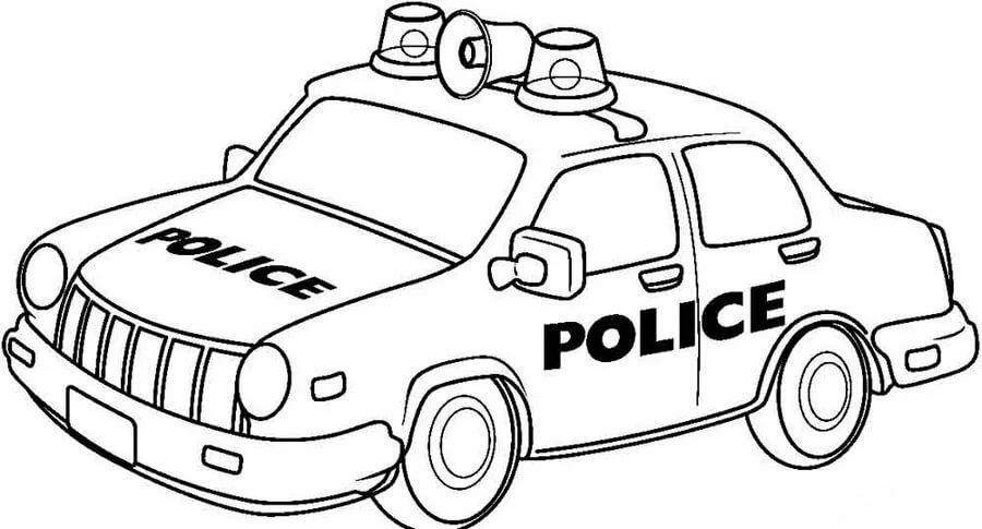 «Раскраска Полицейская машина для мальчиков 4, 5 лет ...