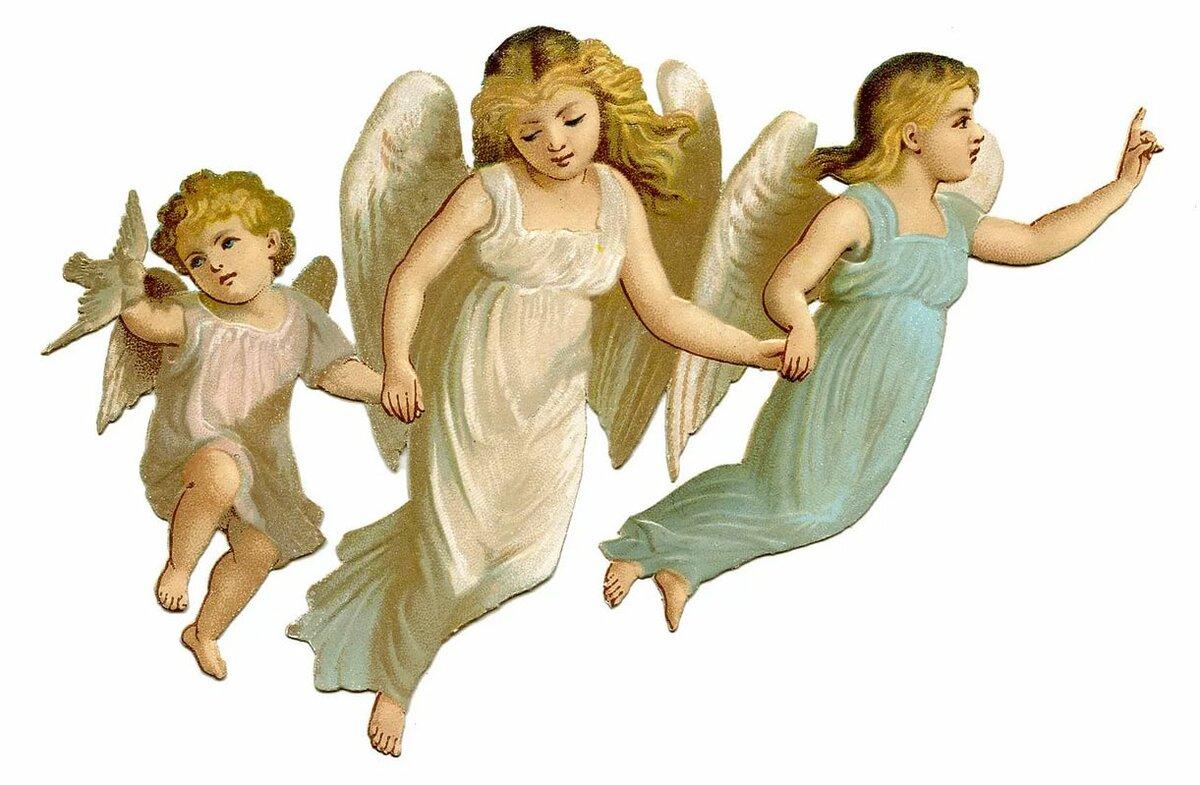 Фон для открытки ангелы