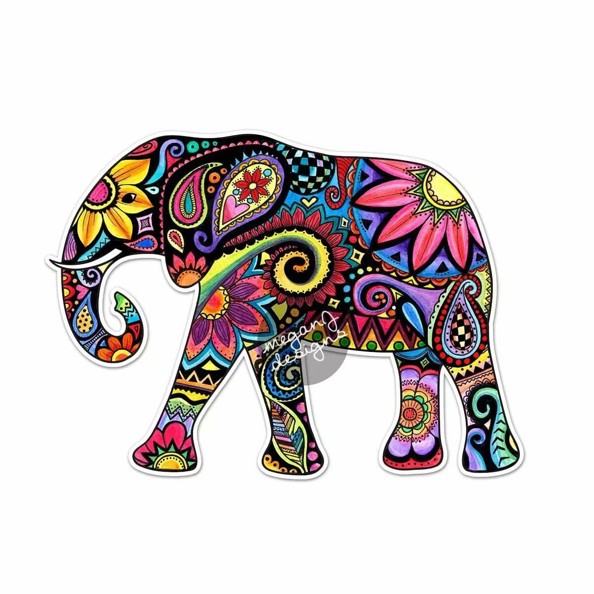 слон в стилизации картинки