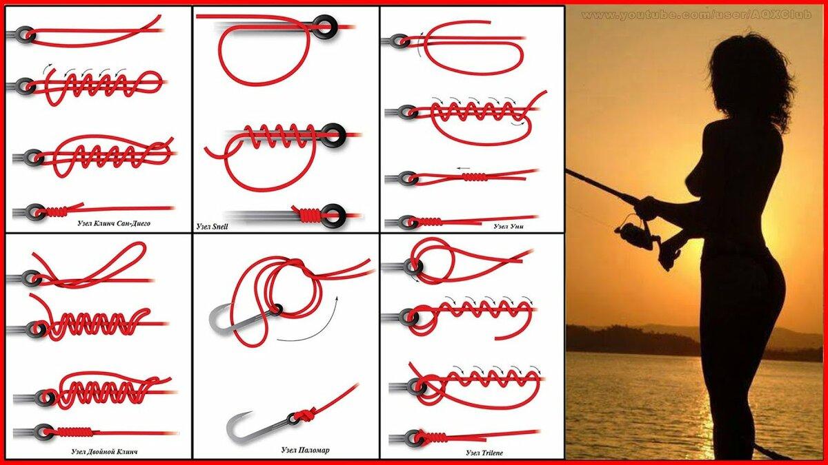 Как вязать узлы на крючок для рыбалки